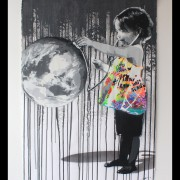 kurar-Save my world 6-8 original all hand made stencil on paper 300G 100x70