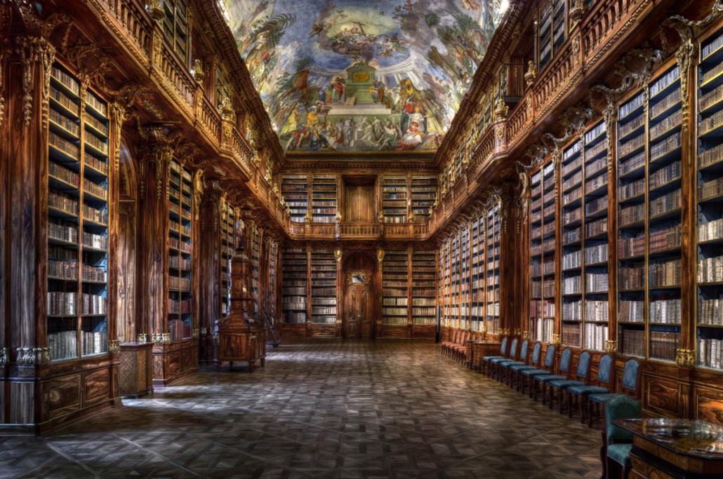christian-voigt---Philosophical-Hall---Strahov-Monastery-H-157-cm--x-B-224-cm-Edition-12-BLACK-DISTANCE-FRAME,-TULIPWOOD