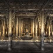 christian voigt - Shwe Nandow Monastery H 146 cm x B 224 cm Edition 12 Distance Frame, Tulip Wood, Black